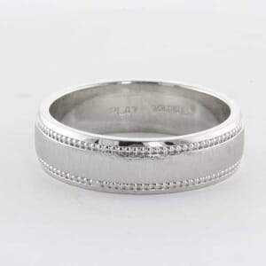 5324 - Platinum matching wedding ring