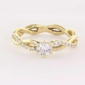 5330 - twisted diamond ring