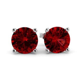 5349 - Rhodolite Garnet Stud Earrings (5mm)
