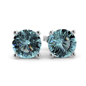 5351 - Aquamarine Stud Earrings (5mm)