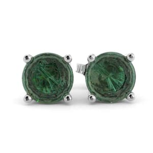 5352 - Green Emerlad Stud Earrings (5mm)