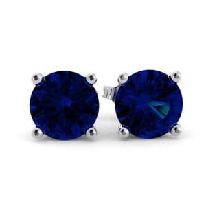 5355 - Blue Sapphire Stud Earrings (5mm)
