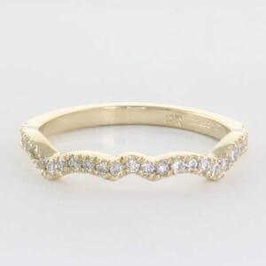 5357 - diamond wedding ring set with round brilliant diamonds