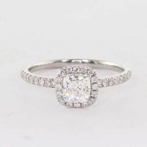 5366 - cushion cut halo ring setting