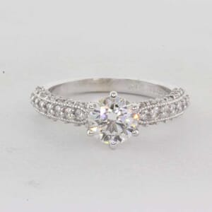 5381 - Vintage Engagement Ring With Milgrain