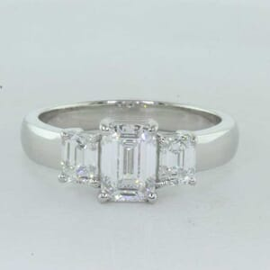 5385 - Three Stones Emerald Cut Ring