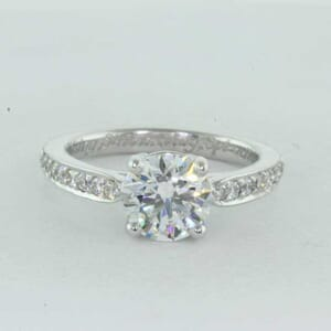 5387 - bead set engagement ring