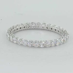 5393 - Shared Prongs Diamond Ring All the Way Round