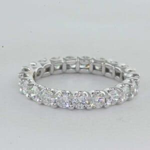 5394 - U Shape Eternity Ring With Round Brilliant Diamonds