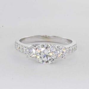 5400 - round brilliant diamond engagement ring setting