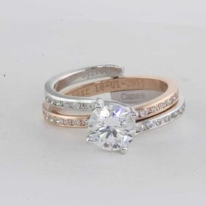 5403 - two tone matching set with round diamonds