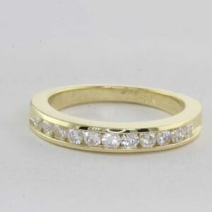 5404 - matching diamond wedding ring set with round brilliant diamonds