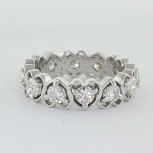 5421 - heart shaped eternity ring
