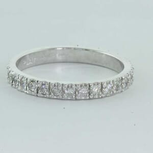5447 - diamond wedding ring set with round brilliant diamonds
