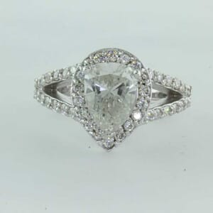 5461 - split halo pear shaped engagement ring setting