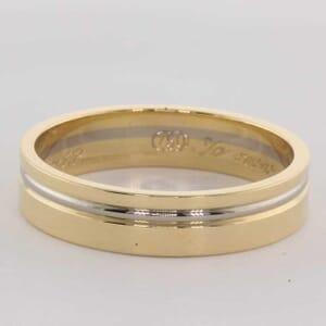 5467 - 5mm, 18K two tone wedding ring tone wedding ring