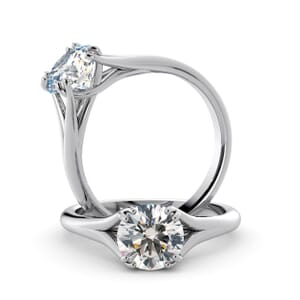 6015 - Round Diamond Solitaire Diamond Ring
