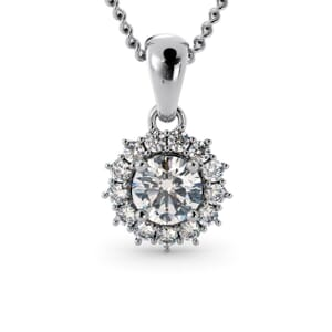 6231 - Round Diamond Round Pendant With Diamonds