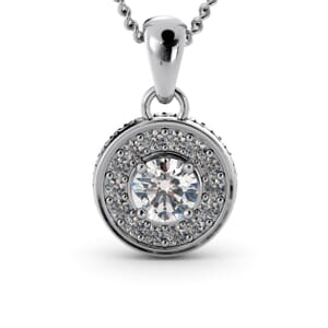 6279 - Round Diamond Pendant