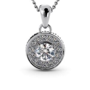6303 - Round Diamond Round Diamond Pendant