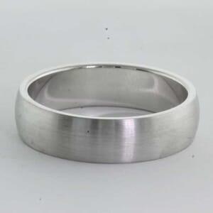 6373 - medium emery brushed finish wedding ring