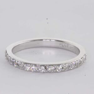6389 - 0.45 carat matching wedding ring set with round brilliant diamonds