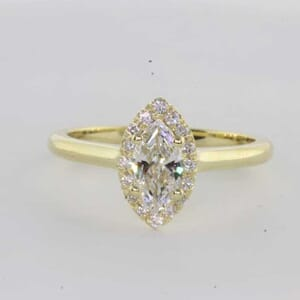 6394 - Marquise Cut Diamond Halo Engagement Ring