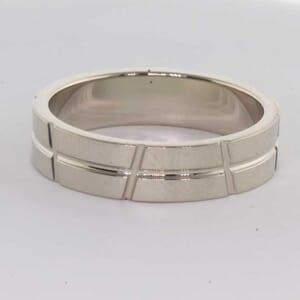 6402 - 6mm, 9K white gold wedding ring
