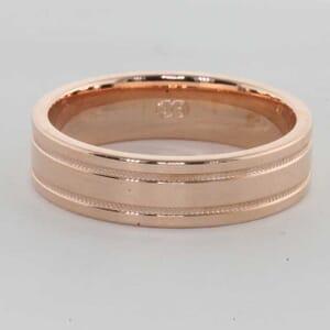6403 - 6mm, flat milgrain wedding ring