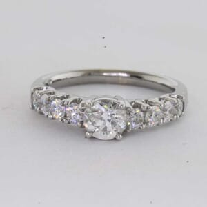 6421 - Bold Shared Prongs Diamond Engagement Ring