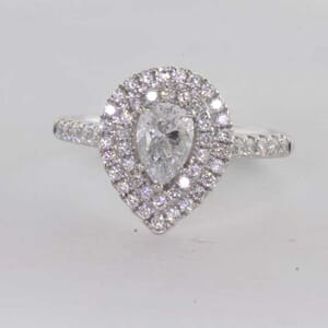 6429 - Tear Drop Brilliant Diamond Ring