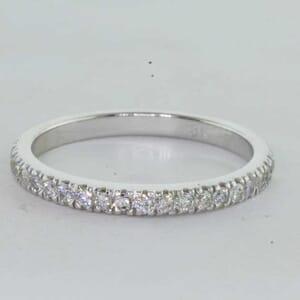 6437 - 0.35 carat matching wedding ring set with round diamonds
