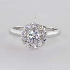 6452 - Flower Halo Engagement Ring