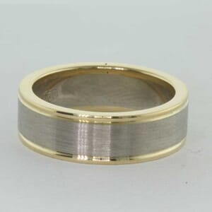 6756 - 6mm Brushed Wedding Ring with Groves