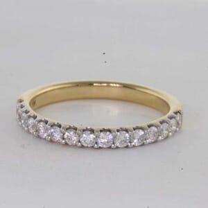 6757 - U Shape Wedding Ring set with Round Brilliant Diamonds