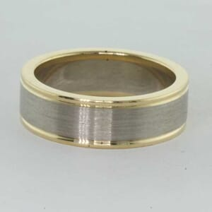 6758 - two tone wedding ring