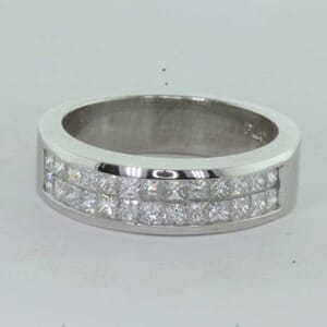 7172 - double row princess cut diamond ring