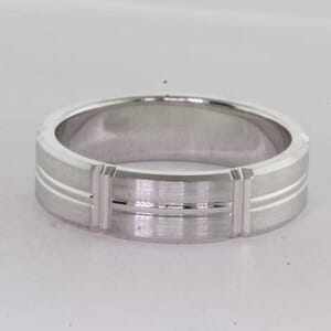 7175 - 6mm Brushed Wedding Ring with Groves