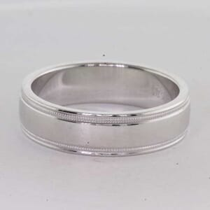 7244 - 6mm classic wedding ring with milgrain
