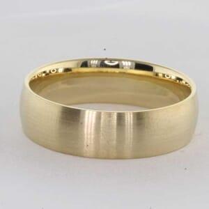 7245 - brass emery medium finish 7mm wedding ring
