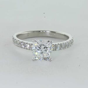 7249 - Round Brilliant Diamonds Pave Setting Engagement