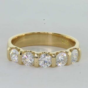 7252 - Half Bezel 5 Stones Diamond Ring