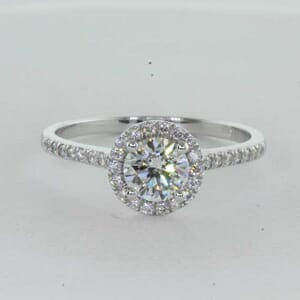 7254 - Custom made halo engagement ring