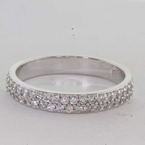 7265 - Double Row Pave Diamond Ring