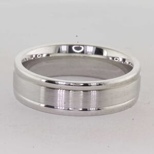 7267 - Brushed and Polished 6mm Wedding Ring