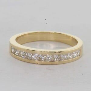 7269 - 0.82 Carat Princess Cut Channel Set Diamond Ring