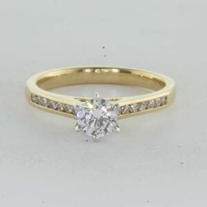 7272 - Channel Set Cathedral Engagement Ring