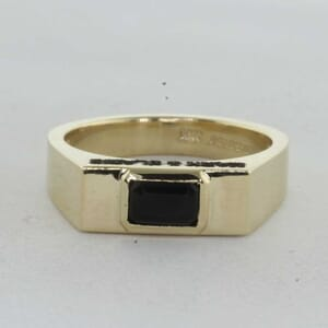 7274 - 5mm Flat Top Wedding ring With Black Onyx