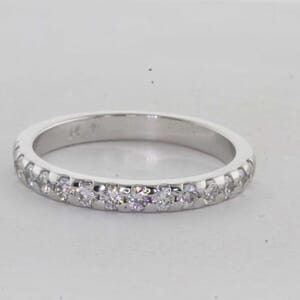7280 - Half Way Diamond Wedding Ring