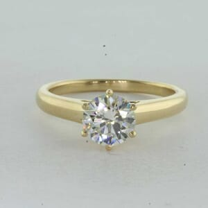7288 - Bold 6 Prongs Solitaire Engagement Ring